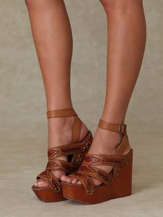 Free People Cactus Mountain Platform. These are so cute! i want these!!but not in my world:(