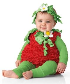 Sweet Strawberry Baby Costume $39.50  |  Chasing Fireflies  // how adorable!! {halloween baby costume}