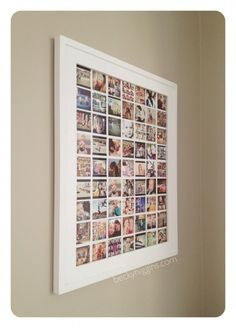 Kids art/Instagram display  - it's just one picture. DIY instructions, print for only $6 @ Costco    LOVE THIS!
