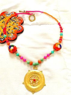 SALEBOMBAY PRINCESS Necklace Middle Eastern Jewelry22K by Nezihe1