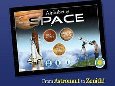 Alphabet of Space - Smithsonian Alphabet Books - a storybook app with facts about stars, galaxies, rockets etc. Appysmarts score: 88/100 http://www.appysmarts.com/application/alphabet-of-space-smithsonian-alphabet-books,id_104292.php