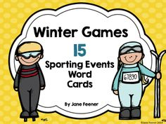 FREE - 15 Sporting events word cards for the upcoming Winter Games.  Make a bulletin board or place them in a writing center to help your student with spelling these sport words.