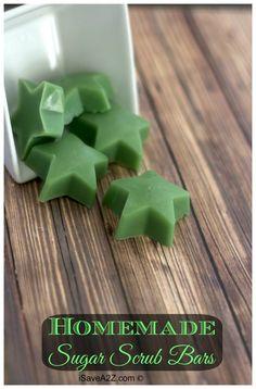 Easy Homemade Coconut Sugar Scrub Bars - iSaveA2Z.com