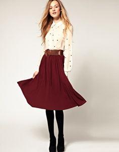 Warehouse Midi Skirt - StyleSays