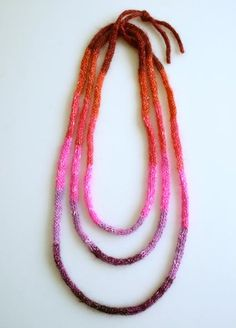 How-To: Knit Cord Necklaces