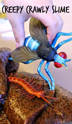 Creepy Crawly Slime: This is so disgusting that kids will love it! :)