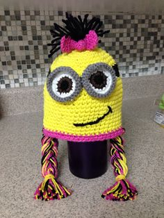 Free Crochet Pattern For Minion Scarf : Crochet - Hats - Minions on Pinterest Crochet Minion ...