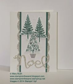 Stampin Up Festival of trees christmas card #stampinup