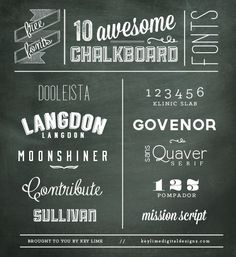 GET IT! 10 FREE Chalkboard Fonts