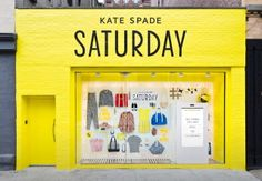 pop up shops, retail store, window displays, ebay, windows, store front, spade saturday, kate spade, design