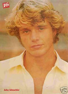 JOHN SCHNEIDER   Dukes of Hazard....we used to all sit around the tv and watch the General Lee jump over something