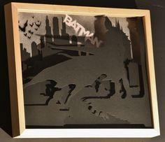 Batman paper cut.