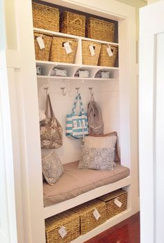 From closet to mudroom nook. Inspired by House of Smith's.