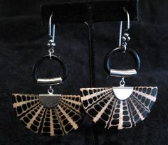 Night Shell Earrings created by Lynn Parpard  by LynnParpard, $110.00