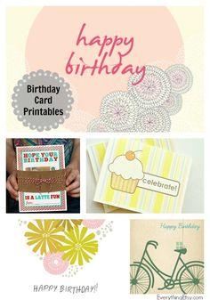 8 Free Birthday Card Printables