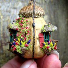 nut shell fairy house