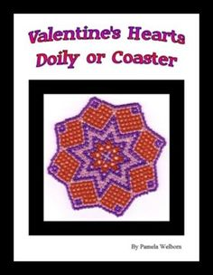Bead Netted Valentine Hearts Doily or Coaster PATTERN by Pamela Welborn AKA Violetbead at Bead-Patterns.com bead pattern, coaster pattern, net valentin, heart bead, beads, heart doili, doilies, bead net, valentin heart