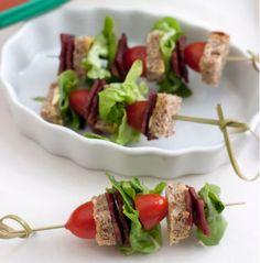 BLT Kebabs - cute party idea
