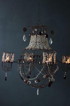 light chandeli, tea lights