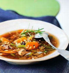 #Recipe: Mushroom-Barley Soup.