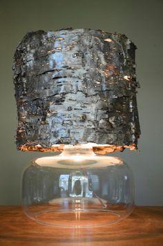 Birch bark lamp