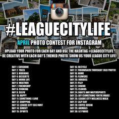April Instagram Photo Contest Details! Follow the City on Instagram @LeagueCityTX