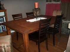 How to make a cheap dining room table with 2x4's