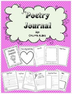 templates to teach poetry/make a poetry journal