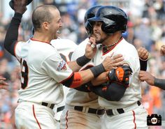 Marco Scutaro & Andres Torres after winning single