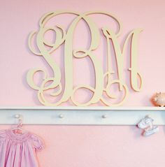 Project Nursery - Custom Wooden Monogram from The Spotted Zebras