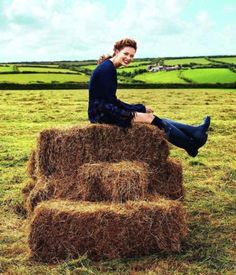 .Spent many hours sittin' and talkin' on a hay bale!!