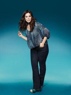 ashley graham, designer jeans, plus size, addition elle