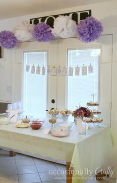 Baby Shower: Purple and Green