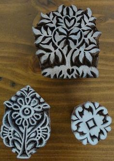 carved stamps - great pottery blog!