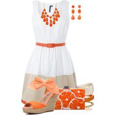 Orange you glad it's Summer?!, created by kginger on Polyvore