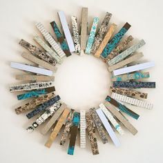 Clothespin wreath- cute in a laundry room