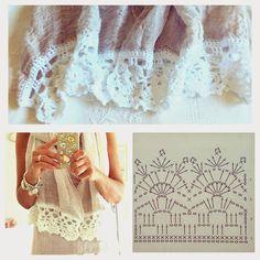 Crochet edging for a linen scarf