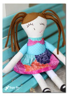 Ruby Lou Doll Pattern review - super cute first handmade first doll