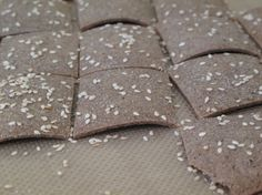 I'd love to crumble some of these crunchy Gluten-free Buckwheat Crackers into a rich bowl of squash or sweet potato soup. #buckwheat #crackers #food #gluten_free