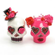 Skull Wedding Cake Topper A00157