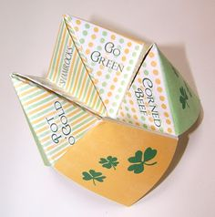 St. Pat's cootie catcher and more printables