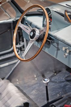 BMW 700 RS. I love wooden steering wheels.