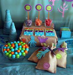 Decoración, fiestas y manualidades varias. Rebeca Terrón: Fiesta Infantil Fondo Marino La Sirenita