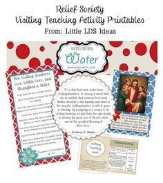 Visiting Teaching Brunch: with free printables.