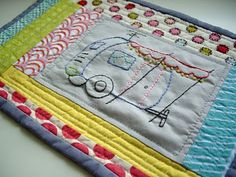 snack mat mug rug zakka    This would be a fun idea for the kids to make