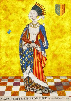 Margaret of Provence, Queen of France. My 24th great-grandmother. Direct bloodline: paternal and maternal (25th great-grand aunt).