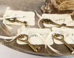 Key placecards from Fairyfolk Weddings on Etsy.