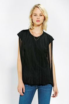 Two By Two Fringe Tee #urbanoutfitters