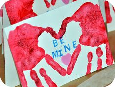 Handprint Heart card for Valentine's Day