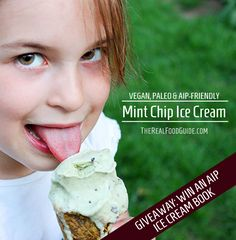 Mint Chip Ice Cream (Vegan, Paleo and AIP-friendly!)  A GIVEAWAY!